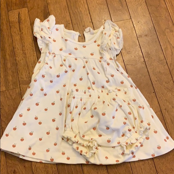 Quincy Mae peach dress & bloomers